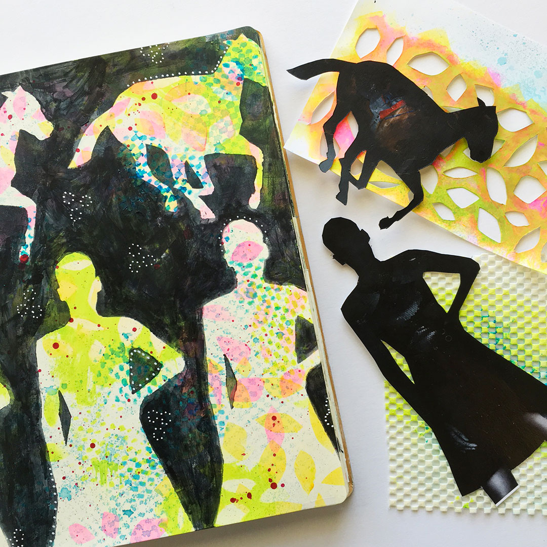 making custom stencils and masks using recycled materials