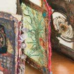faux resin paper accordion books by Gwen LaFleur, Winter Cloth Paper Scissors