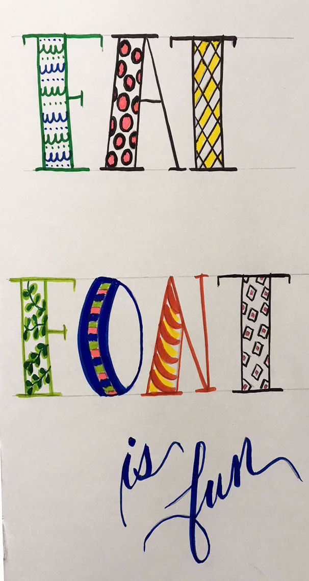 improve your hand lettering with Lettering Lessons