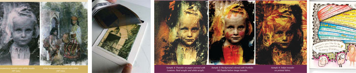 Discover inkjet, emulsion, transparency, and gel medium transfer techniques, all in this free image transfer eBook.