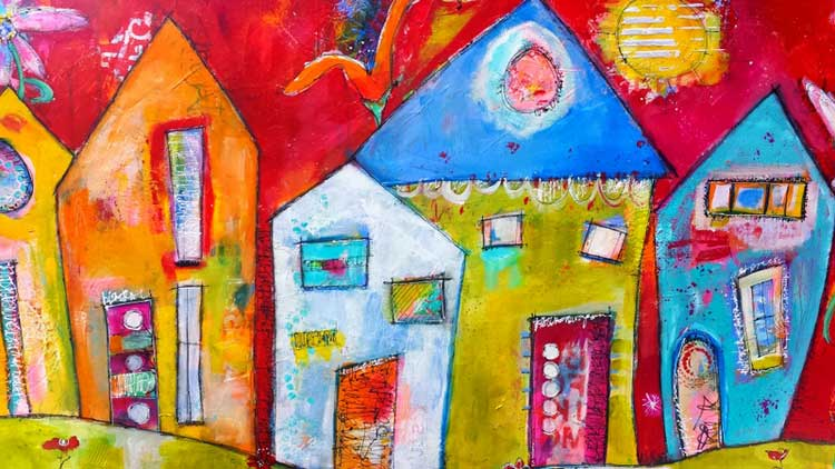How To Nail Bright Colors In Mixed-Media Art - Cloth Paper Scissors