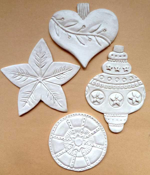 Paper clay ideas and handmade ornaments | Rogene Manas, ClothPaperScissors.com