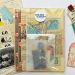 make mixed-media art with vintage ephemera: